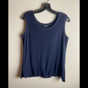 Misook Womens tank top size small blue acrylic